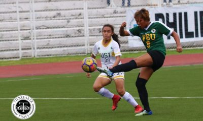 Tiebreaker Times FEU delays UST's Final return, keeps slim finals hope alive FEU Football News UAAP UST  UST Women's Football UAAP Season 80 WOmen's Football UAAP Season 80 Portia Acibar Nina Yanto Nicole Reyes Let Dimzon Kim Parina FEU Women's Football Aging Rubio