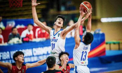 Tiebreaker Times Batang Gilas hold on against Malaysia to open campaign on high note Basketball Gilas Pilipinas News  Terrence Fortea Raven Cortez Mike Oliver Kai Sotto 2017 FIBA U-16 Asian Championship