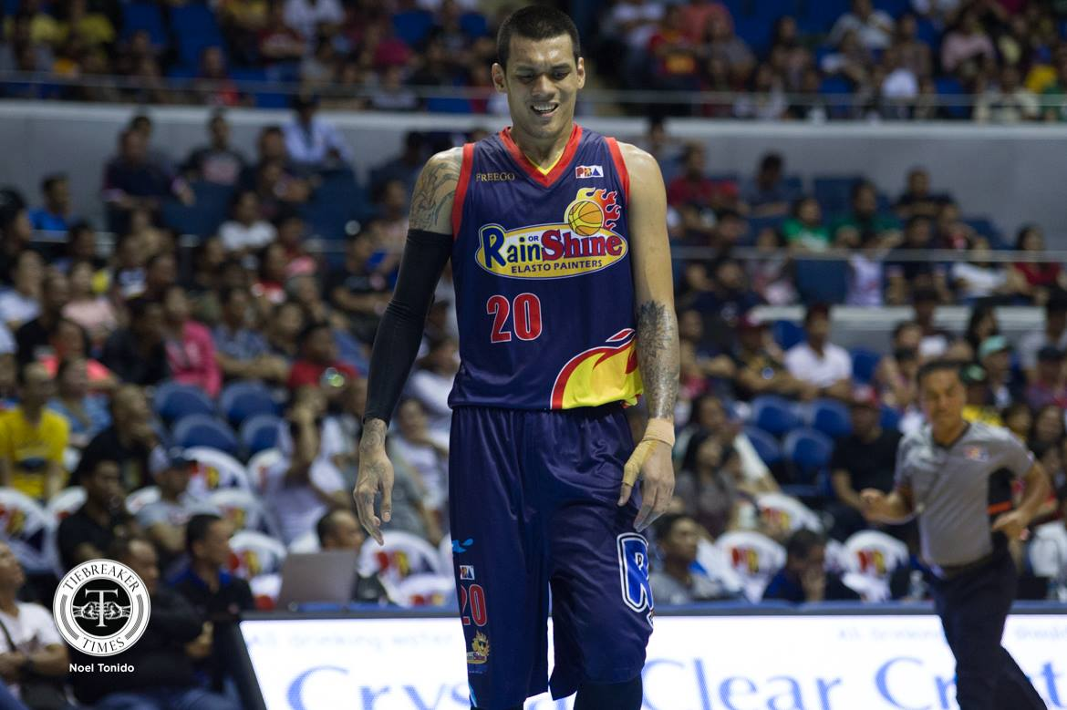 Tiebreaker Times Where's Raymond Almazan? Basketball News PBA  Raymond Almazan Rain or Shine Elasto Painters PBA Season 43 2018 PBA Governors Cup