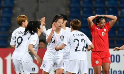 Philippine Sports News - Tiebreaker Times South Korea hammers Philippines for final World Cup spot Football News Philippine Malditas  Rabah Banlarbi Kearra Bastes-Jones 2018 AFC Women's Asian Cup