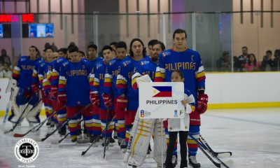 Tiebreaker Times Philippines survives Mongolia, assured of podium finish Ice Hockey News  Steven Fuglister Paul Sanchez Mongolia (Hockey) LR Lancero 2018 IIHF Challenge Cup of Asia