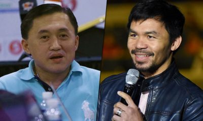 Tiebreaker Times Manny Pacquiao to face off against Bong Go in special three-point shootout Basketball News PBA  PJ Simon PBA Season 43 Mans Carpio Manny Pacquiao Kenneth Duremdes Bong Go Allan Caidic 2018 PBA All-Star Game