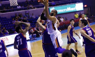 Tiebreaker Times Arinze Onuaku reintroduces self, powers Meralco's surge against Columbian Basketball News PBA  Ricky Dandan Rashawn McCarthy PBA Season 43 Norman Black Nico Salva Meralco Bolts KG Canaleta Eric Camson Columbian Dyip CJ Aiken Chris Newsome Carlo Lastimosa Arinze Onuaku 2018 PBA Commissioners Cup