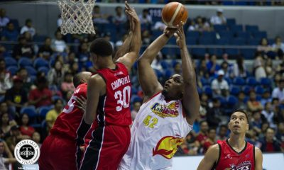 Tiebreaker Times With first game in the books, Reggie Johnson now looks to be in better shape Basketball News PBA  Reggie Johnson PBA Season 43 Caloy Garcia Beau Belga 2018 PBA Commissioners Cup