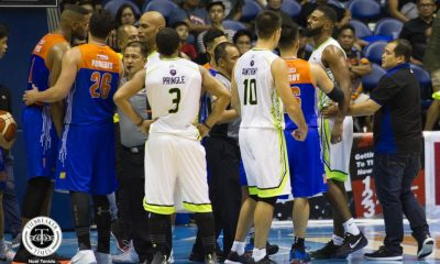 Philippine Sports News - Tiebreaker Times Mo Tautuaa on kicking incident that led to ejection: 'They know who they want to protect' Basketball News PBA  TNT Katropa PBA Season 43 Nash Racela Mo Tautuaa Jeremy Tyler Globalport Batang Pier 2018 PBA Commissioners Cup