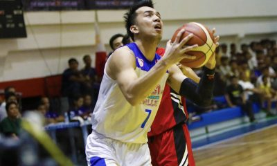 Philippine Sports News - Tiebreaker Times Michael Calisaan finally gets to enjoy sweet victory over Zark's-Lyceum Basketball News PBA D-League SSC-R  Michael Calisaan Che'lu-San Sebastian Revellers 2018 PBA D-League Season 2018 PBA D-League Aspirants Cup