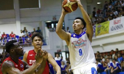 Philippine Sports News - Tiebreaker Times Veterans show way for Che'Lu-San Sebastian in Game 1 escape against Zark's-Lyceum Basketball LPU News PBA D-League SSC-R  Zark's-Lyceum Jawbreakers Topex Robinson Stevenson Tiu Samboy de Leon Ryan Costelo MJ Ayaay Mike Nzeusseu Michael Calisaan Jaycee Marcelino Che'lu-San Sebastian Revellers Allyn Bulanadi Alfred Batino 2018 PBA D-League Season 2018 PBA D-League Aspirants Cup