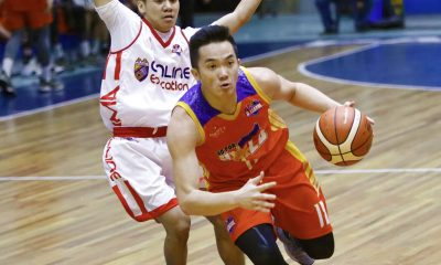 Tiebreaker Times Paul Desiderio, Go for Gold end campaign with rout of AMA Basketball CSB News PBA D-League  Yankie Haruna Paul Desiderio Matt Salem Mark Herrera Kyles Lao Jimboy Pasturan Go-for-Gold Scratchers Charles Tiu Carlo Young Carlo Escalambre AMA Online Education Titans 2018 PBA D-League Season 2018 PBA D-League Aspirants Cup