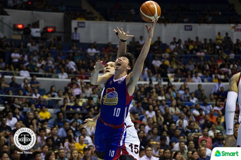 Tiebreaker Times Ian Sangalang vows Hotshots won't go down easily Basketball News PBA  PBA Season 43 Magnolia Hotshots Ian Sangalang Chito Victolero 2017-18 PBA Philippine Cup