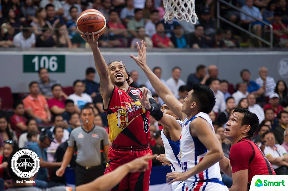 Tiebreaker Times Chris Ross epitomized heart in San Miguel's conquest Basketball News PBA  San Miguel Beermen PBA Season 43 Leo Austria Chris Ross 2017-18 PBA Philippine Cup