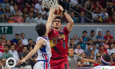 Philippine Sports News - Tiebreaker Times June Mar Fajardo fights through cramps, powers San Miguel to history Basketball News PBA  San Miguel Beermen PBA Season 43 Leo Austria June Mar Fajardo 2017-18 PBA Philippine Cup