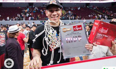 Tiebreaker Times June Mar Fajardo earns Philippine Cup Finals MVP crown Basketball News PBA  San Miguel Beermen PBA Season 43 June Mar Fajardo 2017-18 PBA Philippine Cup