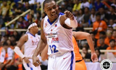 Philippine Sports News - Tiebreaker Times Justin Brownlee hopes apparent leg injury won't turn into something serious ABL Alab Pilipinas Basketball News  Justin Brownlee Jimmy Alapag 2017-18 ABL Season