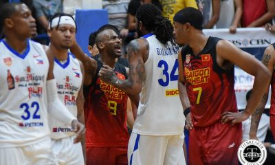 Tiebreaker Times Things get physical between Alab and Saigon ABL Alab Pilipinas Basketball News  Saigon Heat Renaldo Balkman Mikey Williams Lawrence Domingo Justin Brownlee Bobby Ray Parks Jr. 2017-18 ABL Season