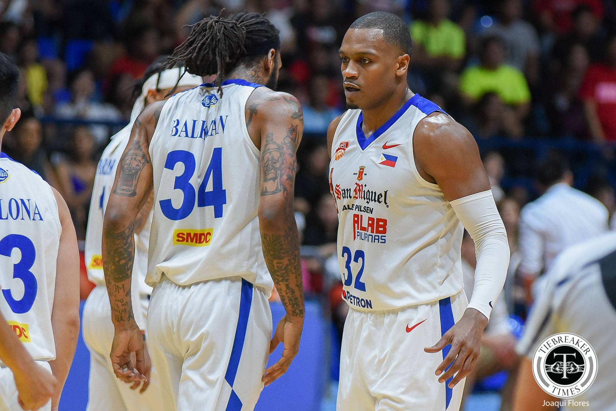 Tiebreaker Times San Miguel Alab reach new heights with B and B duo ABL Alab Pilipinas Basketball News  Renaldo Balkman Justin Brownlee Jimmy Alapag 2017-18 ABL Season
