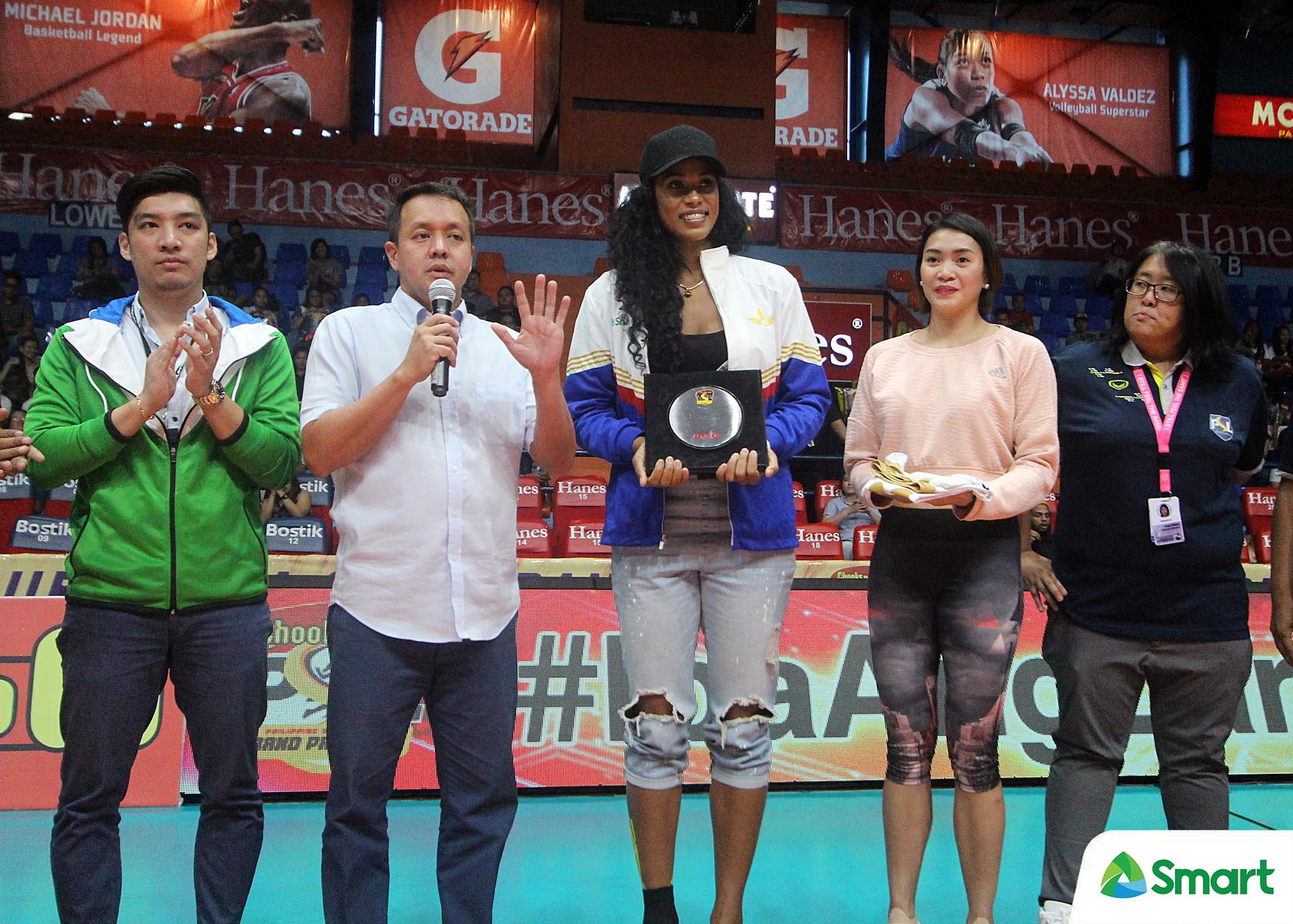 Tiebreaker Times PSL honors SMART Prepaid import Gyselle Silva News PSL Volleyball  SMART Prepaid Giga Hitters Gyselle Silva 2018 PSL Season 2018 PSL Grand Prix