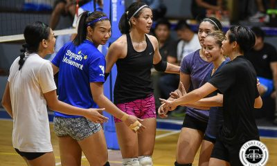 Philippine Sports News - Tiebreaker Times 18 hopefuls attend first Women's National Volleyball Team tryout News Volleyball  Rebecca Rivera Ramil De Jesus Mylene Paat MJ Phillips Melissa Gohing Majoy Baron Maika Ortiz Kim Fajardo Kim Dy Jia Morado Jaja Santiago Dindin Santiago-Manabat Dawn Macandili CJ Rosario Cherry Rondina Cha Cruz Ara Galang Alyssa Valdez Aby Marano 2018 Asian Games-Volleyball