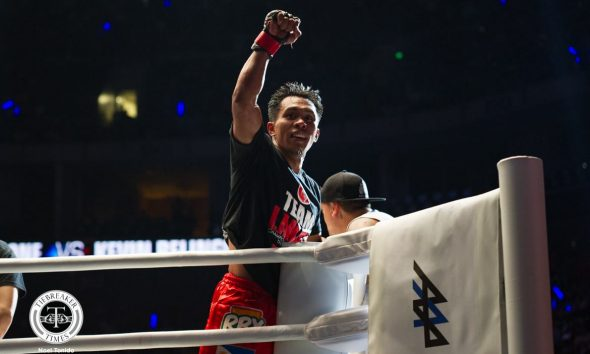 Philippine Sports News - Tiebreaker Times Kevin Belingon demolishes Andrew Leone, stakes claim as top contender Mixed Martial Arts News ONE Championship  ONE: Heroes of Honor Kevin Belingon Andrew Leone