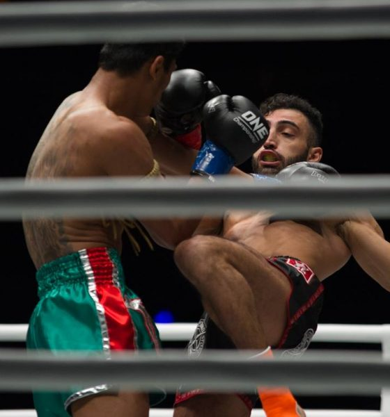 Philippine Sports News - Tiebreaker Times Giorgio Petrosyan, Nong-o Gaiyanghadao shine in Super Series debut Kickboxing Muay Thai News ONE Championship  Regian Eersel ONE: Heroes of Honor Nong-O Gaiyanghadao Jo Nattawut Giorgio Petrosyan Fabio Pinca Elliot Compton Cosmo Alexandre Brad Riddell