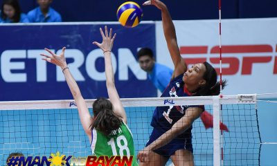 Philippine Sports News - Tiebreaker Times Petron takes Game One from Cocolife behind smashing debut from Katherine Bell News PSL Volleyball  Yuri Fukuda Shaq delos Santos Sara Klisura Rhea Dimaculangan Petron Blaze Spikers Moro Branislav Marta Drpa Lindsay Stalzer Katherine Bell Cocolife Asset Managers 2018 PSL Season 2018 PSL Grand Prix