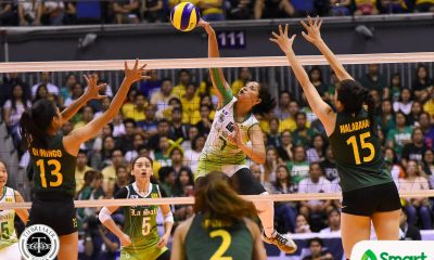 Tiebreaker Times May Luna proves to be La Salle's sparkplug DLSU News UAAP Volleyball  UAAP Season 80 Women's Volleyball UAAP Season 80 Ramil De Jesus May Luna DLSU Women's Volleyball