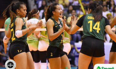 Tiebreaker Times With all eyes on her, Bernadeth Pons looks to settle down after Game One loss FEU News UAAP Volleyball  UAAP Season 80 Women's Volleyball UAAP Season 80 FEU Women's Volleyball Bernadeth Pons