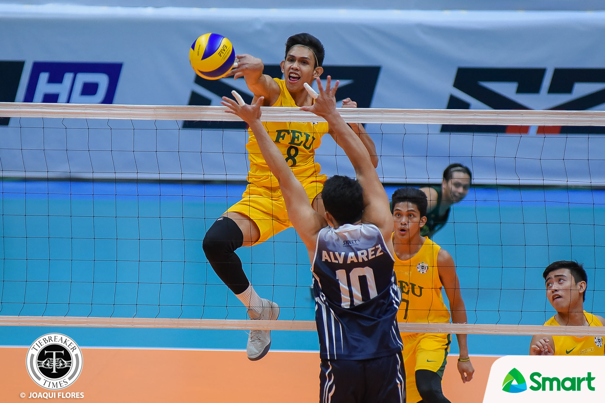 Tiebreaker Times FEU dents Adamson's record for second win AdU FEU News PVL Volleyball  RJ Paler Rey Diaz Pao Pablico Joshua Barrica George Labang FEU Men's Volleyball Domeng custodio Adamson Men's Volleyball 2018 PVL Season 2018 PVL Men's Collegiate Conference