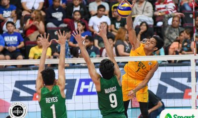 Tiebreaker Times Tamaraws stamp twice-to-beat ticket, eliminate Green Spikers DLSU FEU News UAAP Volleyball  UAAP Season 80 Men's Volleyball UAAP Season 80 Rikko Marmeto Richars Solis Rey Diaz Raymark Woo Owen Suarez Norman Miguel JP Bugaoan FEU Men's Volleyball DLSU Men's Volleyball Arjay Onia