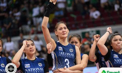 Philippine Sports News - Tiebreaker Times After passing up several other opportunities, Jaja Santiago proud to stay with NU News NU UAAP Volleyball  UAAP Season 80 Women's Volleyball UAAP Season 80 Ramil De Jesus Jaja Santiago DLSU Women's Volleyball