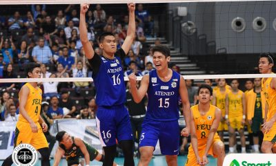 Philippine Sports News - Tiebreaker Times Jesus, take the wheel: Espejo saves Ateneo's season ADMU FEU News UAAP Volleyball  UAAP Season 80 Men's Volleyball UAAP Season 80 Rey Diaz Oliver Almadro Marck Espejo Manuel Sumanguid Jude Garcia JP Bugaoan Ish Polvorosa FEU Men's Volleyball Ateneo Men's Volleyball