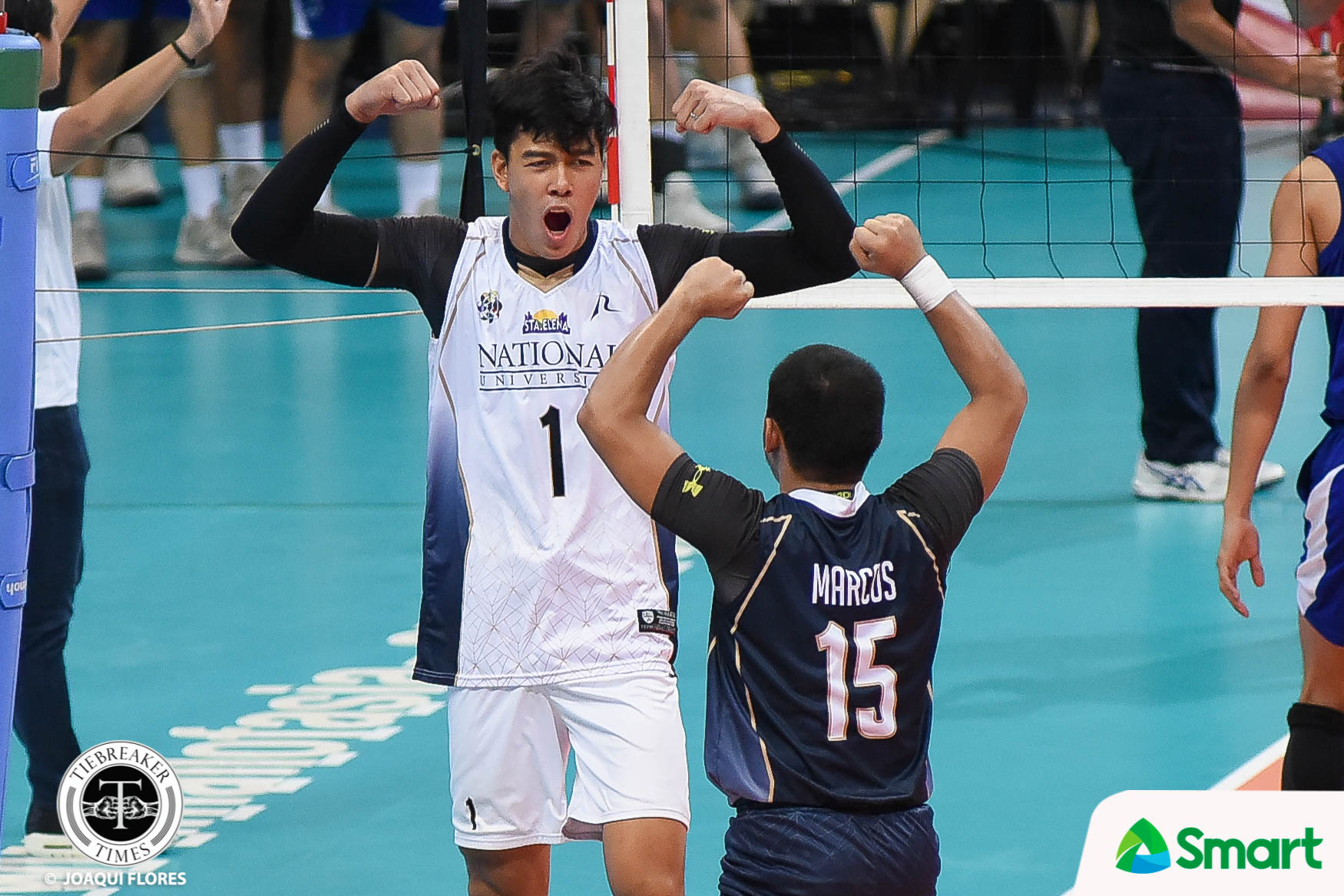 Tiebreaker Times Bryan Bagunas, Bulldogs end four-year curse against Blue Eagles ADMU News NU UAAP Volleyball  UAAP Season 80 Men's Volleyball UAAP Season 80 Ron Medalla Ricky Marcos Oliver Almadro NU Men's Volleyball Maeck Espejo Madz Gampong Kim Dayandante Dante Alinsunurin Bryan Bagunas Ateneo Men's Volleyball