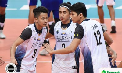 Tiebreaker Times NU-Pilipinas stuns Thailand in AUG opener News NU Volleyball  NU Men's Volleyball Dante Alinsunurin 2018 ASEAN University Games