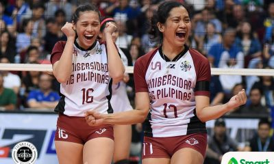 Philippine Sports News - Tiebreaker Times UP shocks Ateneo in thrilling three-setter ADMU News UAAP UP Volleyball  UP Women's Volleyball UAAP Season 80 Women's Volleyball UAAP Season 80 Tots Carlos Tai Bundit Rem Cailing Kat Tolentino Justine Dorog Jho Maraguinot Isa Molde Godfrey Okumu Ateneo Women's Volleyball