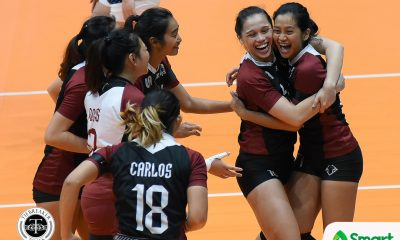 Philippine Sports News - Tiebreaker Times UP dedicates win to late former Lady Maroon Lourdes Guerrero News UAAP UP Volleyball  UP Women's Volleyball UAAP Season 80 Women's Volleyball UAAP Season 80 Noreen Go Ayel Estranero
