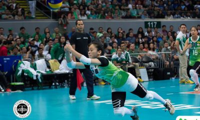 Philippine Sports News - Tiebreaker Times La Salle seniors relishing last stretch of UAAP career DLSU News UAAP Volleyball  UAAP Season 80 Women's Volleyball UAAP Season 80 Majoy Baron Kim Dy DLSU Women's Volleyball Dawn Macandili