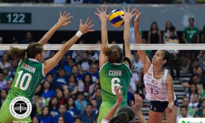 Philippine Sports News - Tiebreaker Times Jho Maraguinot left to soak in disappointing outing against La Salle ADMU News UAAP Volleyball  UAAP Season 80 Women's Volleyball UAAP Season 80 Jhoanna Maraguinot Ateneo Women's Volleyball