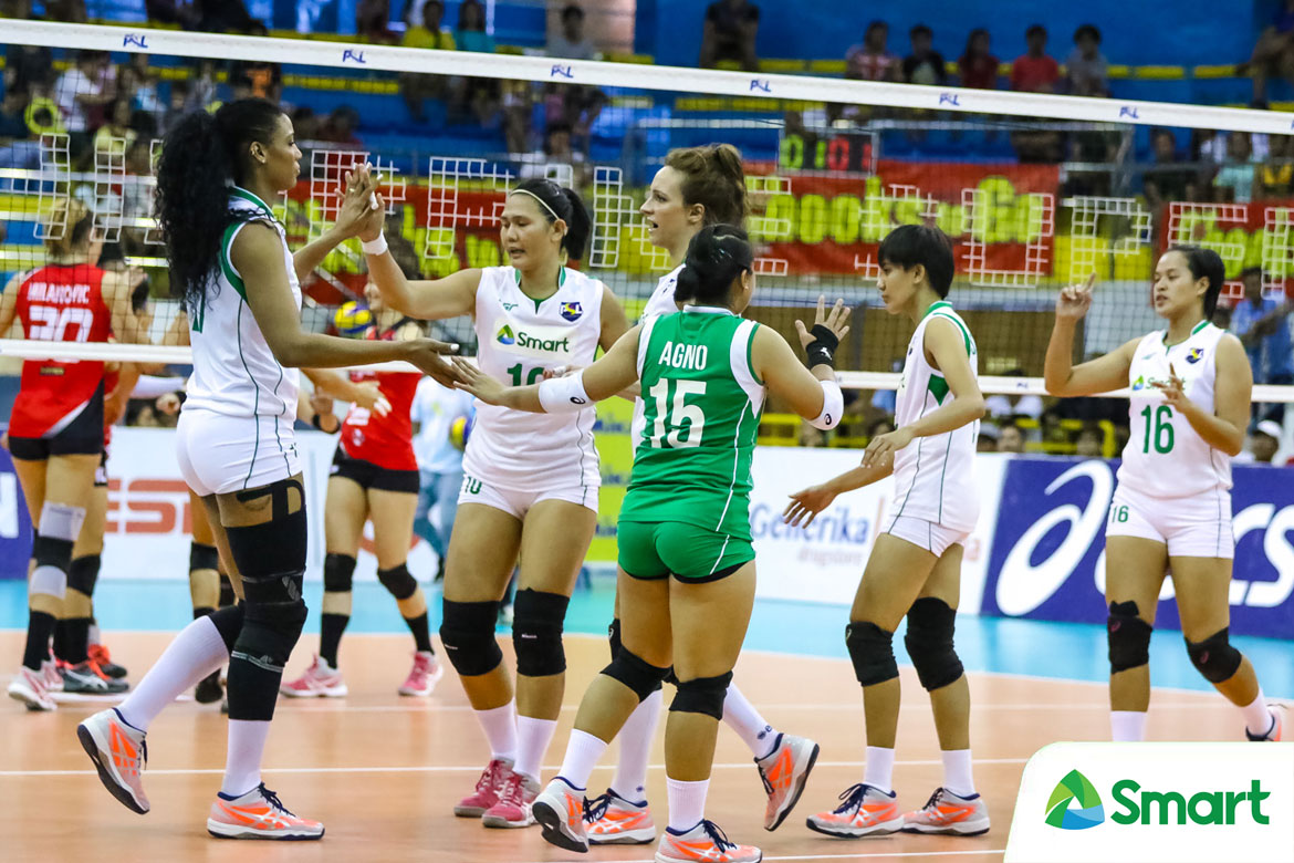 Tiebreaker Times Elevate your game with the SMART Giga Hitters News SMART Sports Volleyball  SMART Prepaid Giga Hitters Sanja Trivinuvic Paolo Dizon Gyselle Silva