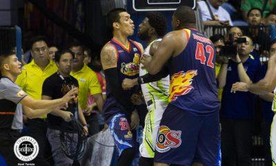 Philippine Sports News - Tiebreaker Times Almazan defends Tiu against White: 'Di naman namin pababayaan yung teammate namin' Basketball News PBA  Raymond Almazan Rain or Shine Elasto Painters PBA Season 43 2018 PBA Commissioners Cup