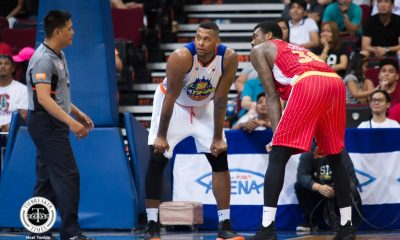 Philippine Sports News - Tiebreaker Times Long-time rivals Jeremy Tyler, Charles Garcia cross paths in Manila Basketball News PBA  TNT Katropa PBA Season 43 Jeremy Tyler Charles Garcia Barangay Ginebra San Miguel 2018 PBA Commissioners Cup