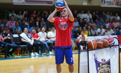 Philippine Sports News - Tiebreaker Times Terrence Romeo and Mans Carpio sizzle in Legends Shootout Basketball News PBA  Terrence Romeo Scottie Thompson Mans Carpio Manny Pacquiao Kenneth Duremdes Bong Go Bobby Pacquiao Allan Caidic 2018 PBA All-Star Game