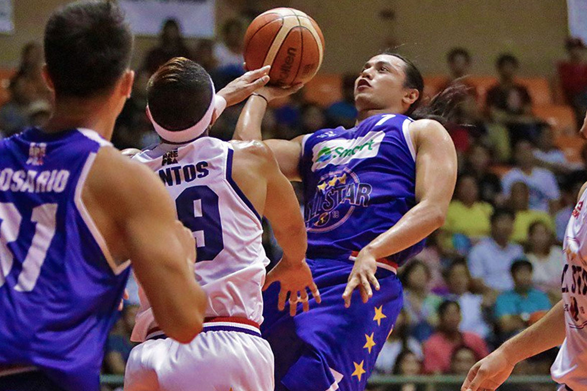 Tiebreaker Times No issues between Arwind Santos and Terrence Romeo after rare All-Star spat Basketball News PBA  Terrence Romeo PBA Season 43 Arwind Santos 2018 PBA All-Star Game