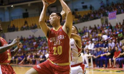 Philippine Sports News - Tiebreaker Times In Greg Slaughter's return, Ginebra ends two-game slide Basketball News PBA  Tim Cone Scottie Thompson Roi Sumang PBA Season 43 Paul Zamar Kevin Ferrer Jarrid Famous Japeth Aguilar Greg Slaughter Charles Garcia Bong Ramos Blackwater Elite Barangay Ginebra San Miguel 2018 PBA Commissioners Cup