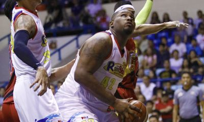 Philippine Sports News - Tiebreaker Times Redemption not in Reggie Johnson's mind after crossing paths with Christian Standhardinger once more Basketball News PBA  Reggie Johnson Rain or Shine Elasto Painters PBA Season 43 2018 PBA Commissioners Cup