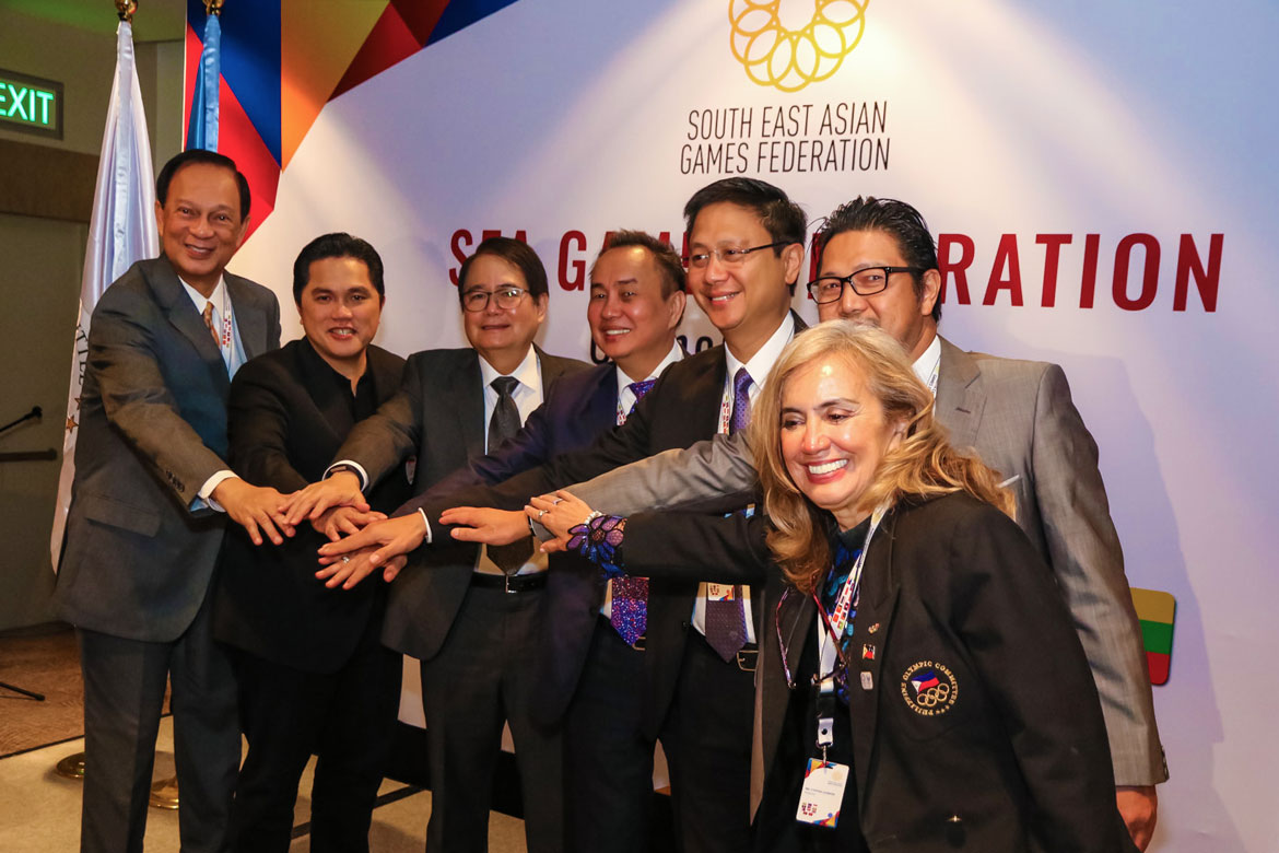 Tiebreaker Times 30 for 30: Initial list of 2019 SEA Games events unveiled 2019 SEA Games News POC/PSC  South East Asian Games Federation Ricky Vargas Erick Thohir