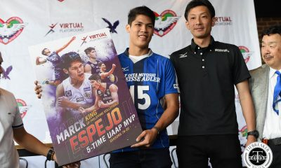 Tiebreaker Times From Blue Eagle to Weisse Adler: Marck Espejo to take flight in Japan News PVL Volleyball  Miyoshi Weisse Adler Marck Espejo 2018 V1 League Season