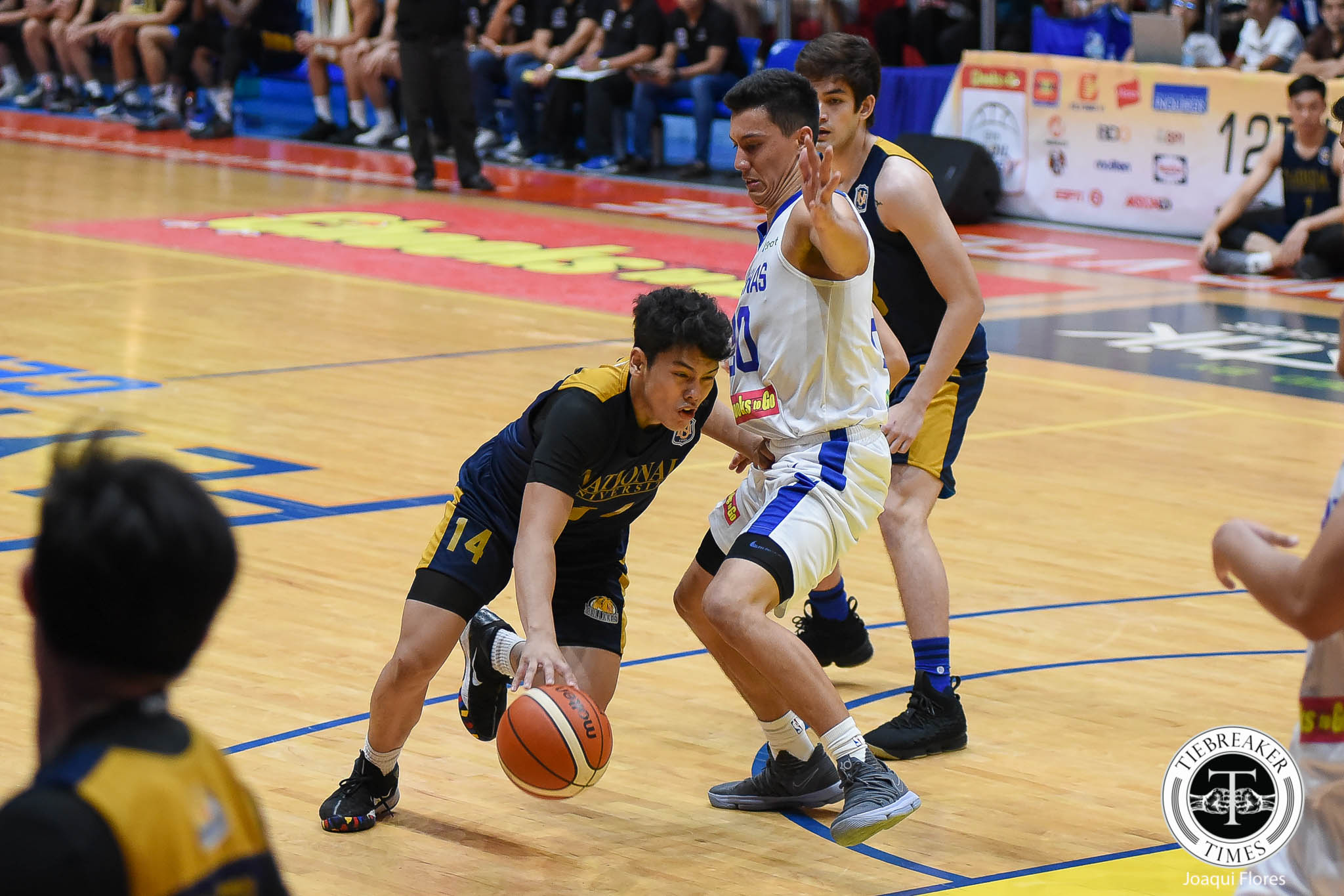 Tiebreaker Times Bulldogs weather Kobe Paras explosion, hand Cadets 5th loss Basketball Gilas Pilipinas News NU  NU Men's Basketball Kobe Paras Juan Gomez De Liano Jong Uichico John Lloyd Clemente John Galinato Jamike Jarin Gilas Cadets Abu Tratter 2018 Filoil Premier Cup