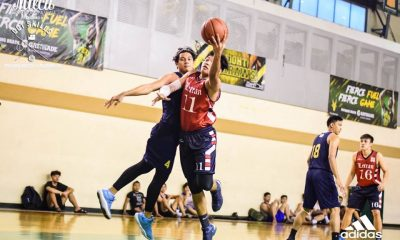 Tiebreaker Times Letran routs MLQU to keep pace with UP, Arellano Basketball CSJL FEU News NU  Migs Oczon Manuel L. Quezon University Stallions Letran Seniors Basketball Kiefer Cordero Kenji Roman Japs Pambid FEU Men's Basketball EJ Agbong Chico Manabat Cderick Zulueta Arellano Seniors Basketball 2018 Milcu Summer Showcase