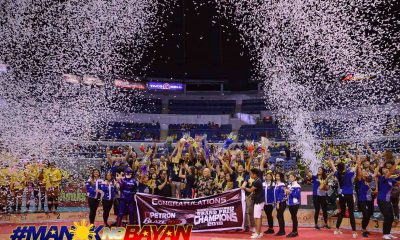 Philippine Sports News - Tiebreaker Times Petron dethrones F2 Logistics, cements status as top PSL club News PSL Volleyball  Yuri Fukuda Shaq delos Santos Rhea Dimaculangan Petron Blaze Spikers MJ Perez Lindsay Stalzer Kennedy Bryan Katherine Bell F2 Logistics Cargo Movers Arnold Laniog 2018 PSL Season 2018 PSL Grand Prix