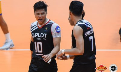 Philippine Sports News - Tiebreaker Times PLDT dials up first win at Cignal's expense News PVL Volleyball  Ronchette Villegas Rex Intal Rence Melgar PLDT Home Fibr Ultra Fast Hitters Oliver Almadro Odjie Mamon Mark Alfafara Marck Espejo Johnvic De Guzman Cignal HD Spikers 2018 PVL Season 2018 PVL Men's Reinforced Conference
