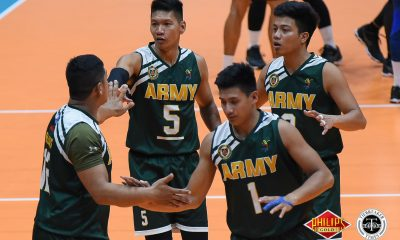 Philippine Sports News - Tiebreaker Times Army scores first win, shocks Air Force News PVL Volleyball  Rico De Guzman RanRan Abdilla Philippine Army Troopers Philippine Air Force Jet Spikers Nico Ramirez Jason Uy Fauzi Ismail Dante Alinsunurin Benjaylo Labide 2018 PVL Season 2018 PVL Men's Reinforced Conference